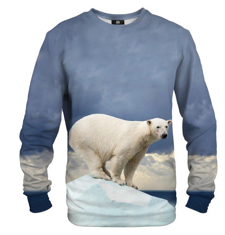Суичър без качулка Бяла мечка