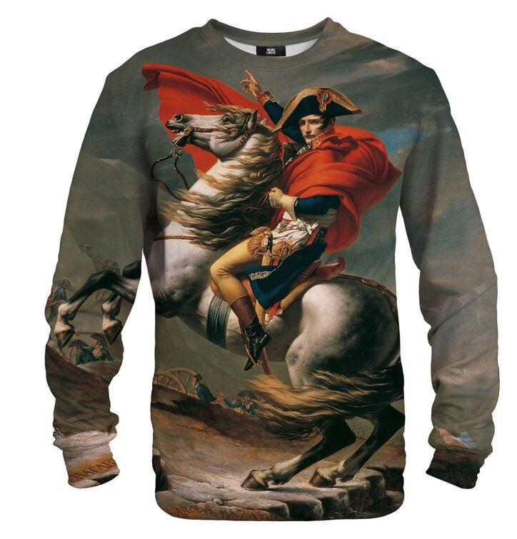 Mikina bez kapucne Napoleon pri prechode Álp