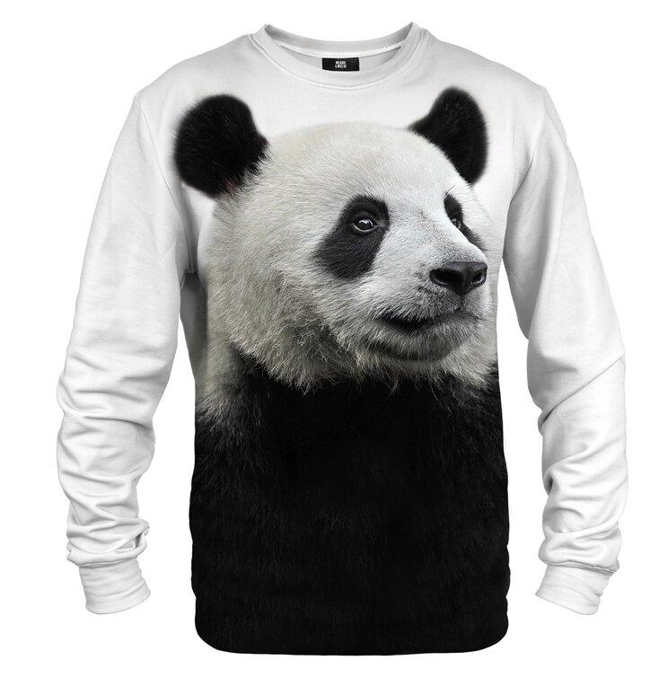 Суичър без качулка Поглед на панда