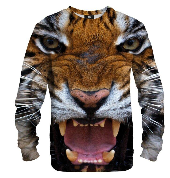 Mikina bez kapucne Rozzúrený tiger