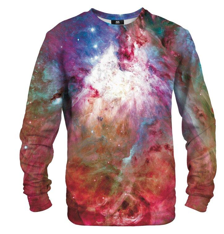 Pulover brez kapuce Roza galaktična megla