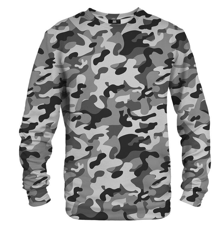 Pulover brez kapuce Sivi Army