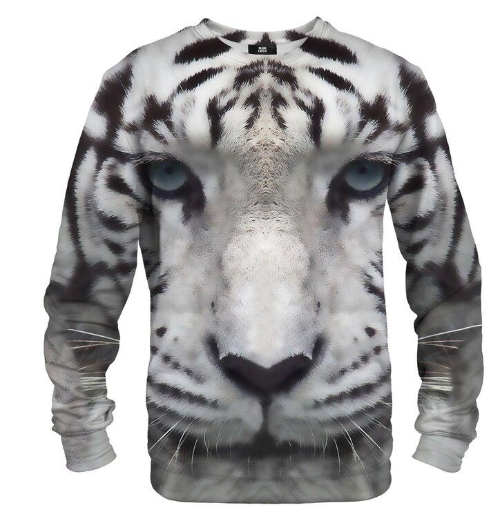 Pulover brez kapuce Tiger beli