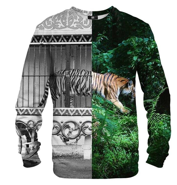 Pulover brez kapuce Tigrova kletka