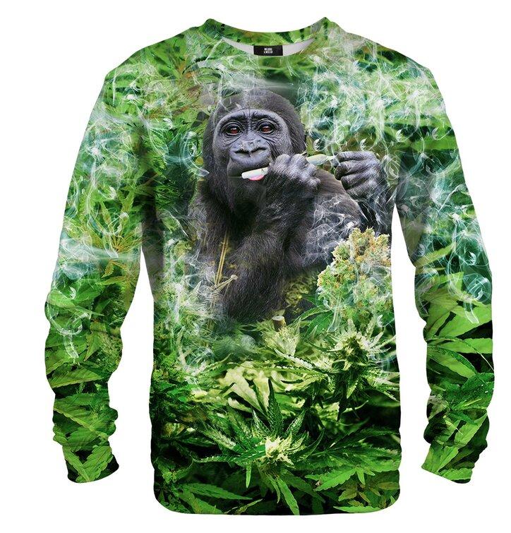 Mikina bez kapuce Usmívající se gorila