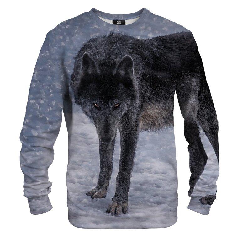 Dukserica bez kapuljače Crni vuk