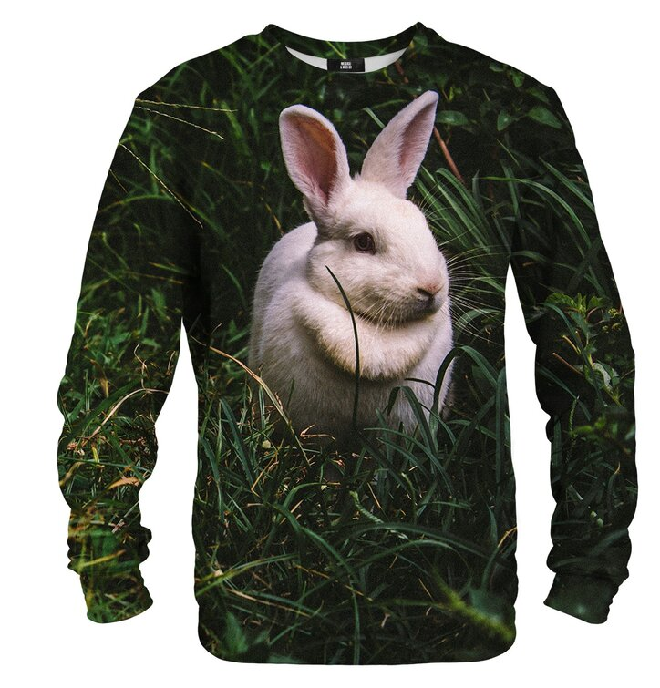 Pulover brez kapuce Zajec v travi