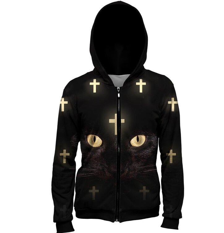 Jopica z zadrgo Mačka z križi