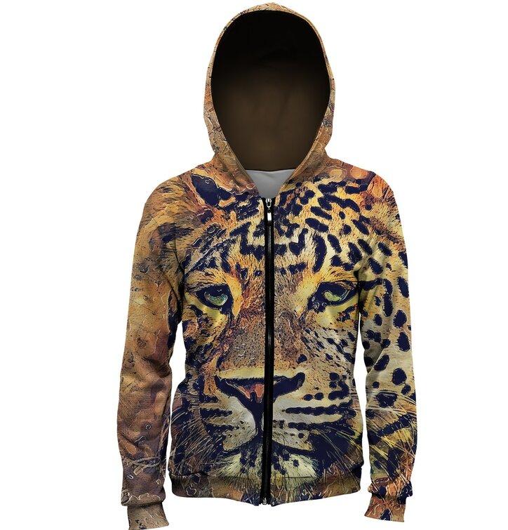 Dukserica s patentom Naslikan leopard