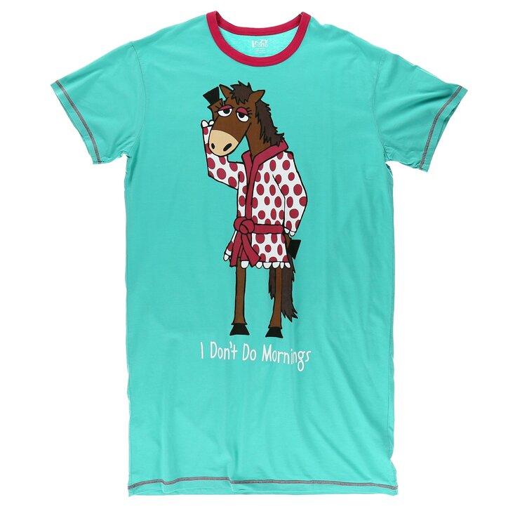 1f0ddc830d94 Potěšte se tímto kouskem Dedoles Modrá dámská noční košile Rána jsou náročné