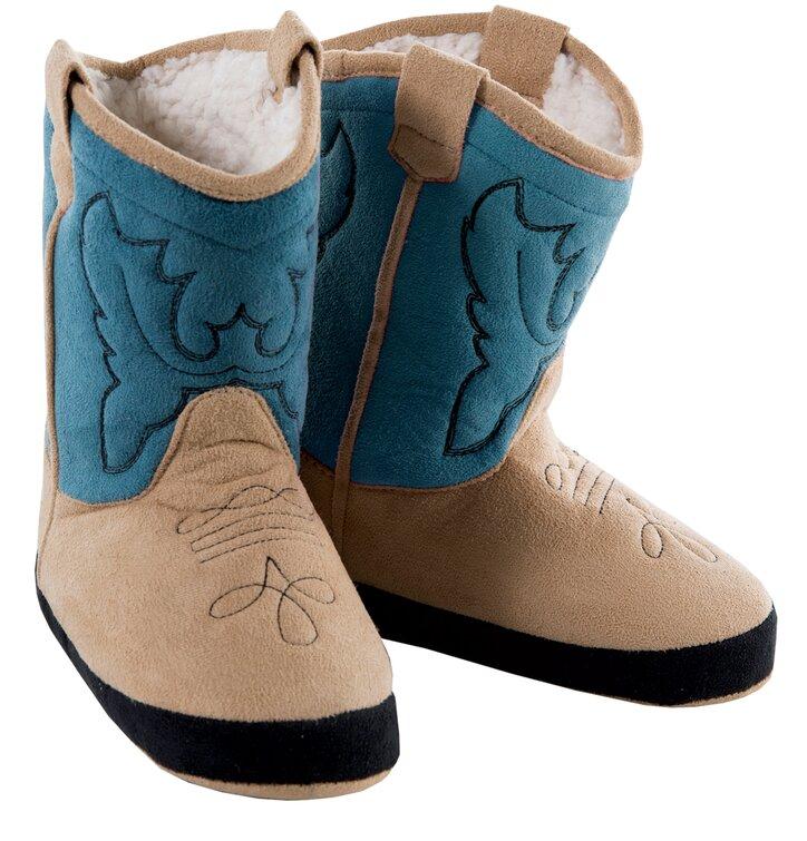 Modré semišové kovbojské čižmy