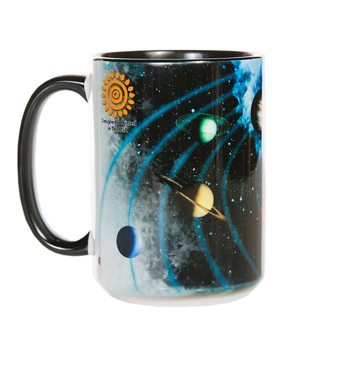 Originelle Tasse mit dem Motiv Sonnensystem