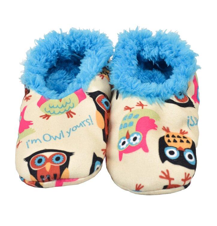 Plyšové papuče Sova