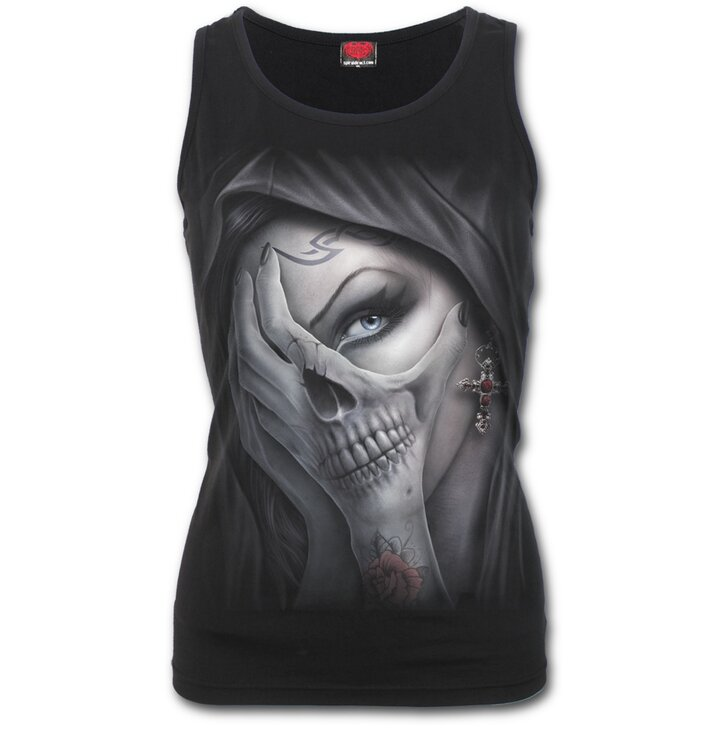 Ladies' Tank Top with Design Hands of Fear