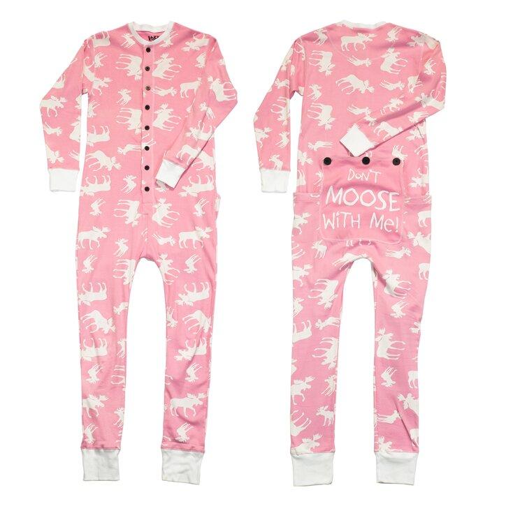 Ružový pyžamový overal losy
