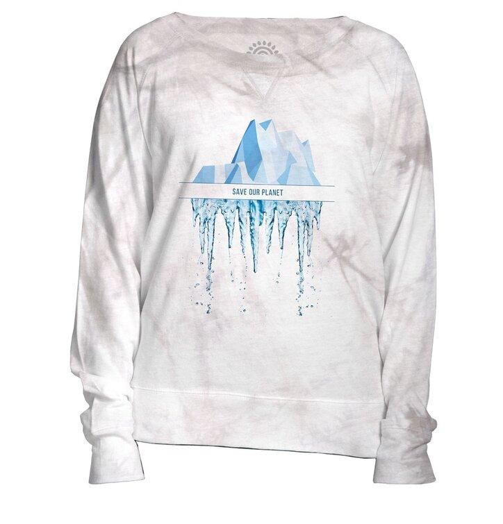 Damen Sweatshirt Weiß Retten wir den Planeten