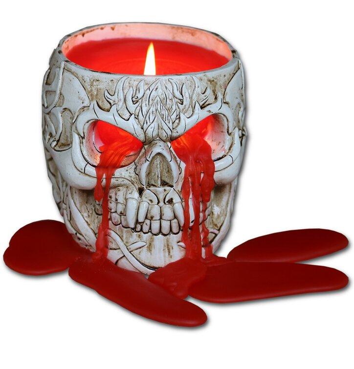 Voňavá živicová sviečka Lebka