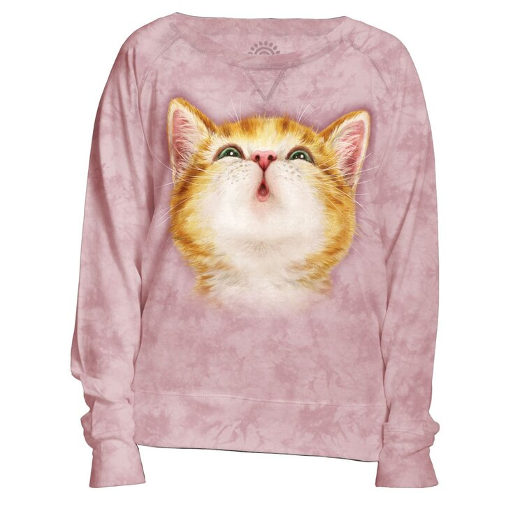 outlet store 11207 07f64 Damen Sweatshirt Rosa Fuchsrotes Kätzchen | Dedoles