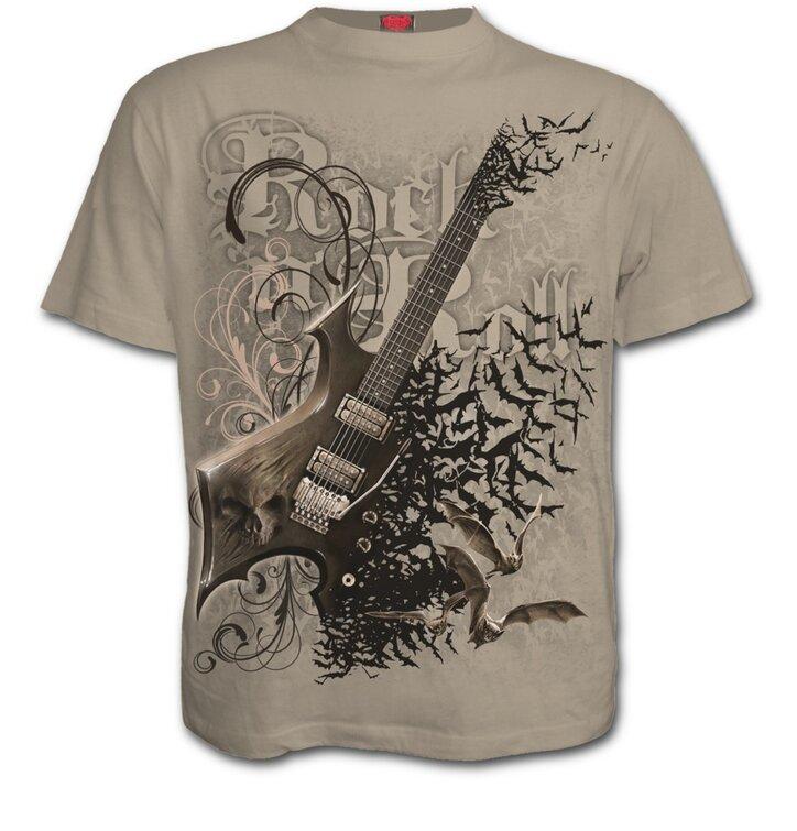 Béžové tričko Rocková gitara
