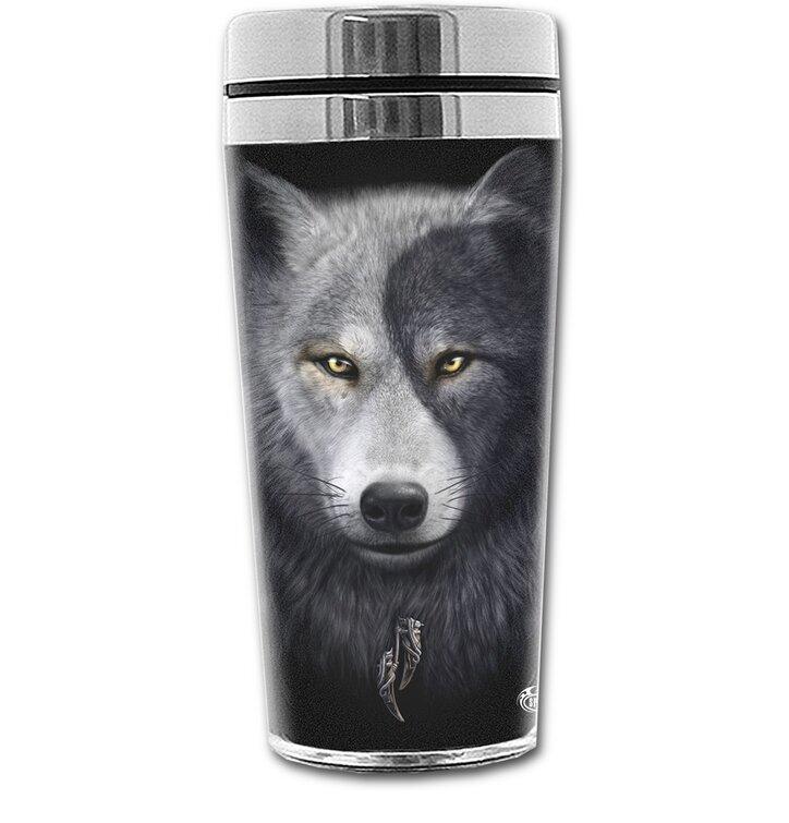 Termopohár s motívom Tvár vlka