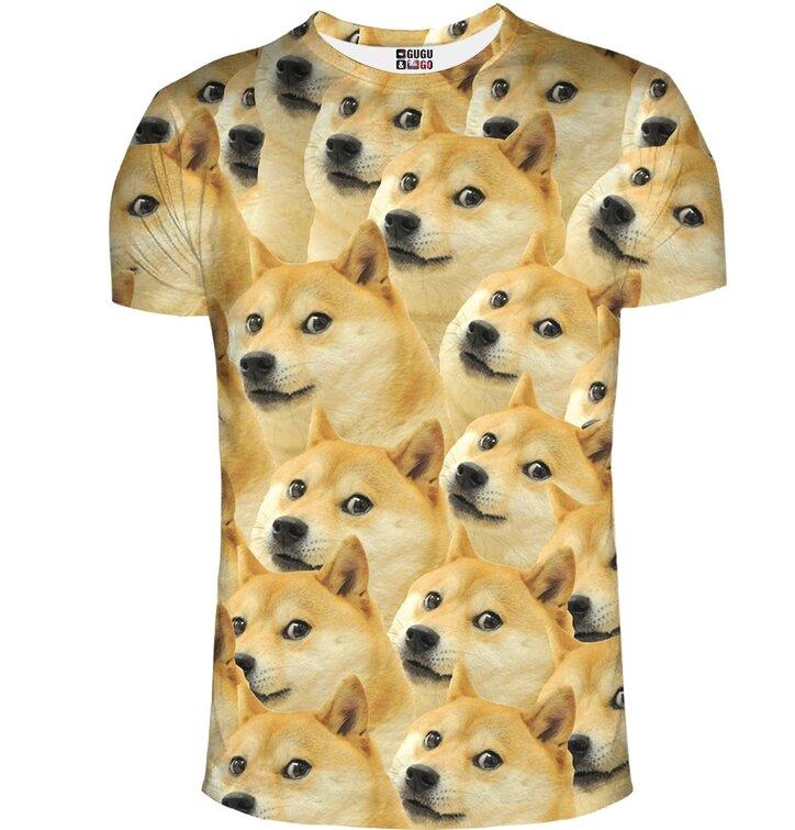 T-Shirt mit kurzen Ärmeln Doge Shiba inu