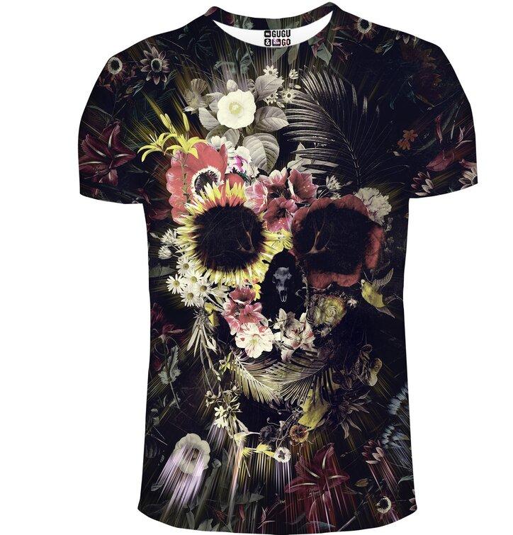 Tričko s krátkym rukávom Kvetinová lebka