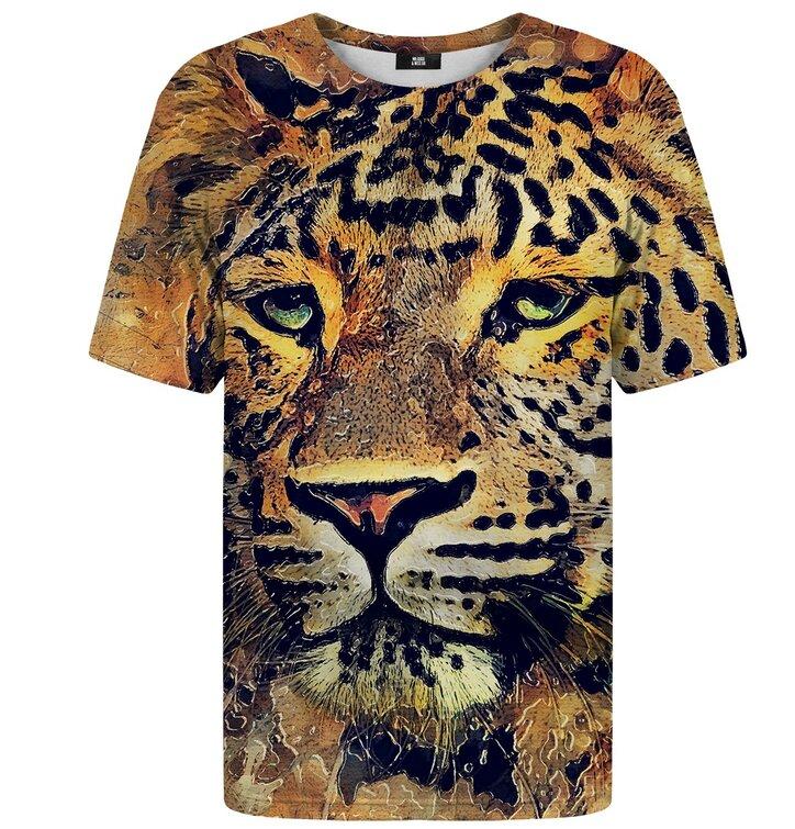3d69954f2 Tričko s krátkym rukávom Maľovaný leopard   Dedoles