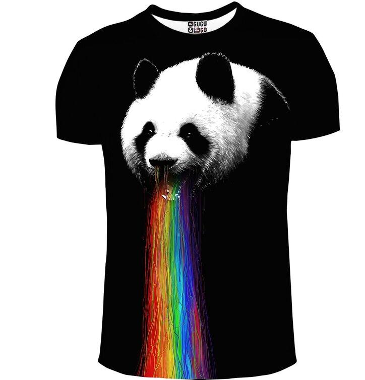 Tričko s krátkym rukávom Panda a dúha