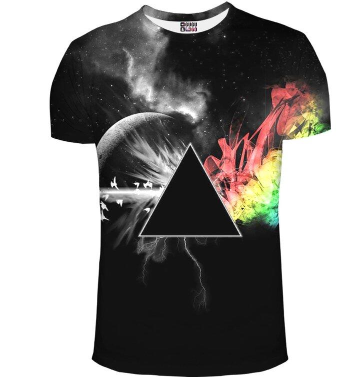 Kurzarm T-Shirt Die dunkle Seite des Mondes