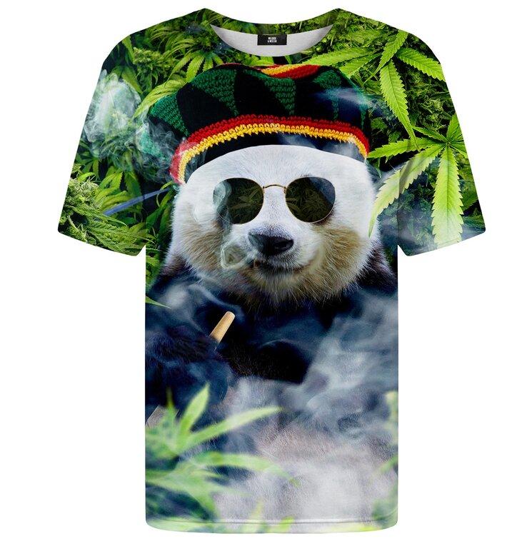 T-Shirt mit kurzen Ärmeln Rastaman Panda