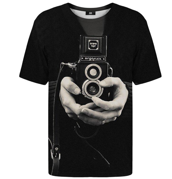 Tričko s krátkym rukávom Retro kamera