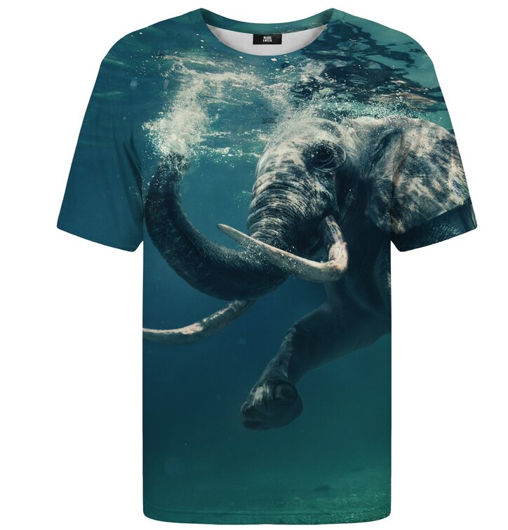 T-shirt with Short Sleeve Elephant Under Water