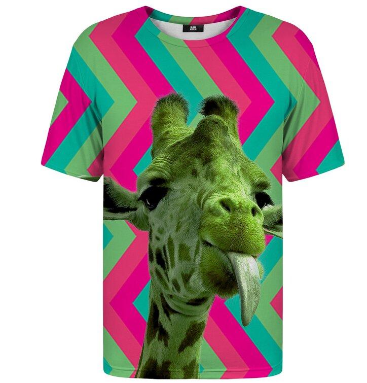 T-Shirt mit kurzen Ärmeln Grüne Giraffe