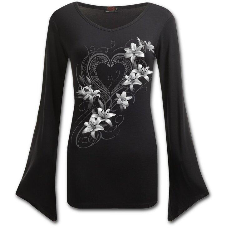 Dámske tričko s motívom Biele kvety