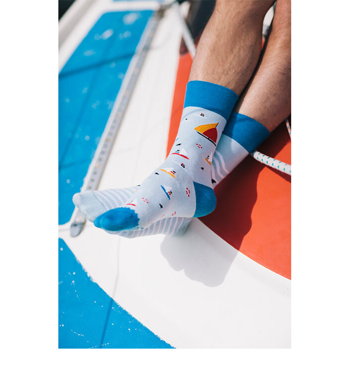 Tip na darček Veselé ponožky Plachetnica 0ed618009b