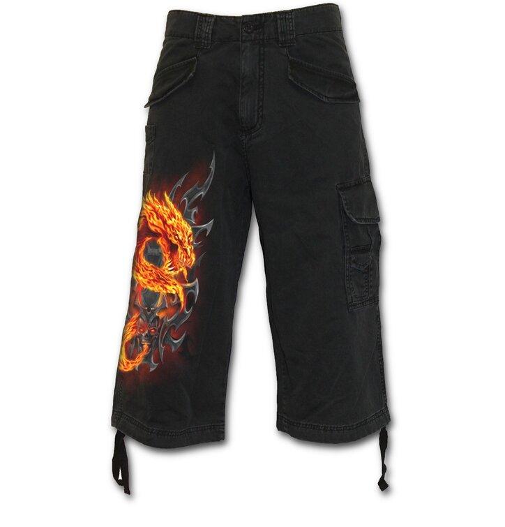 Pánske nohavice - trojštvrťové s motívom Žiarivý drak