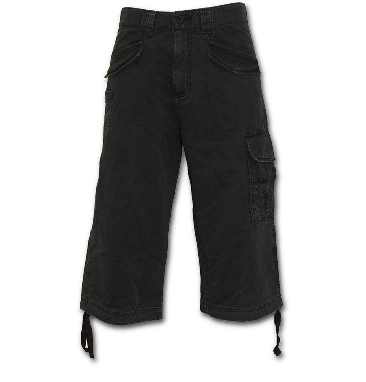 Pánske nohavice - trojštvrťové s motívom Čierna