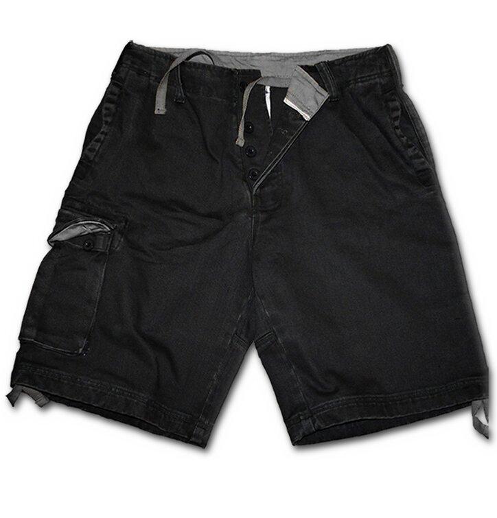 Pánske nohavice - krátke s motívom Čierna