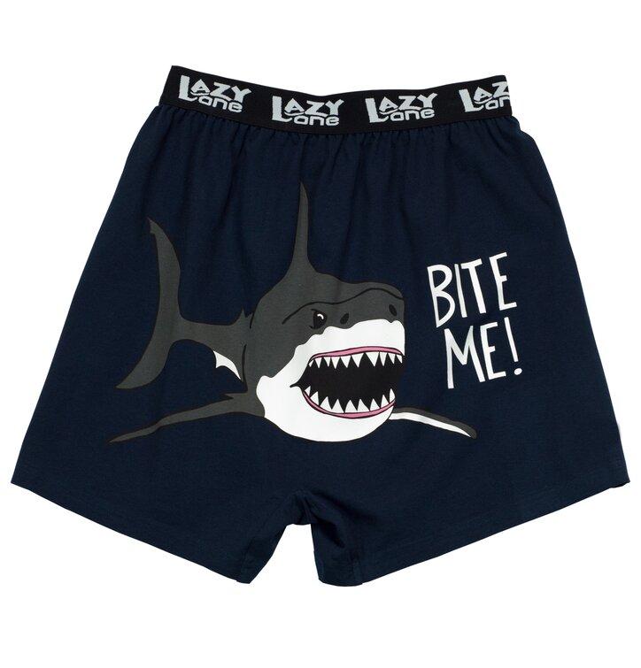 Funny Men's Boxers Bite Me!