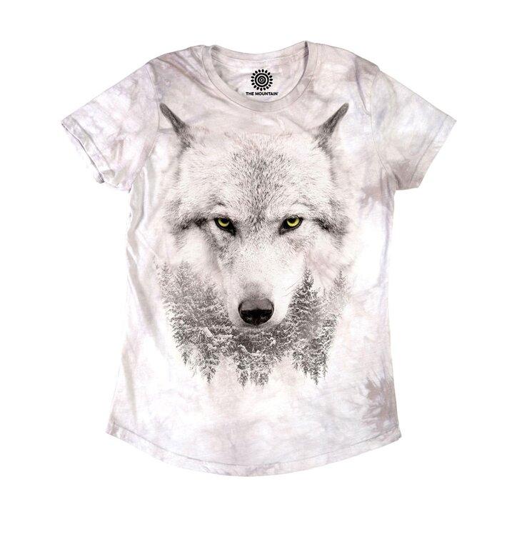 Tricou damă Privirea lupului arctic