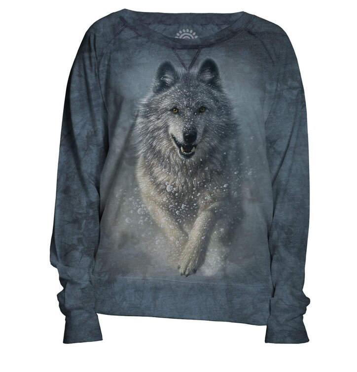 Dámska modrá mikina Snežný vlk