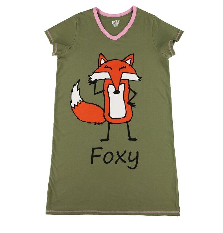 7c3fcad0bfdb Hľadáte originálny a nezvyčajný darček  Obdarovaného zaručene prekvapí  Zelená dámska nočná košeľa Foxy