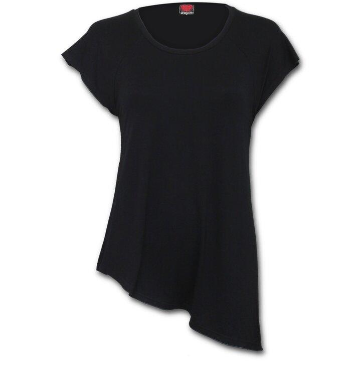 bdd4f41c975b Výnimočný darček od Dedoles Čierne dámske predĺžené tričko