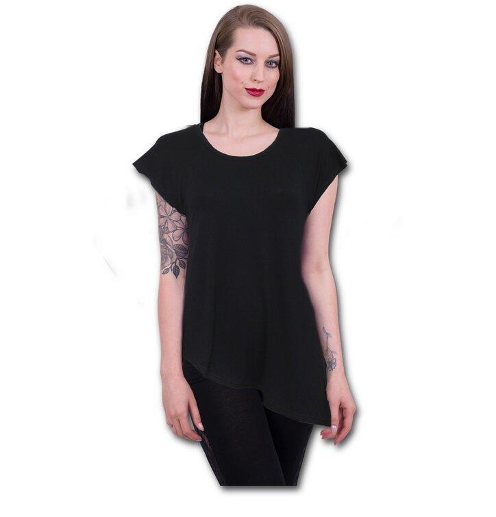 40367089049e Tip na darček Čierne dámske predĺžené tričko