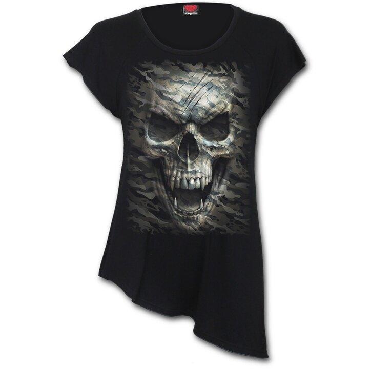 8aaa4659dd83 Zľava Dámske predĺžené tričko Upíria lebka