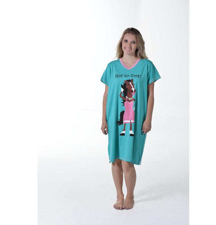 af906635c3c5 Hľadáte originálny a nezvyčajný darček  Obdarovaného zaručene prekvapí  Dámska nočná košeľa s véčkovým výstrihom Trendy