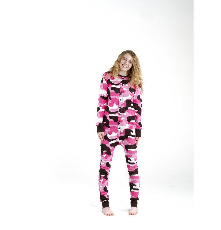 Kedvezmény Rózsaszín terepmintás kezeslábas pizsama 8a8727ee92