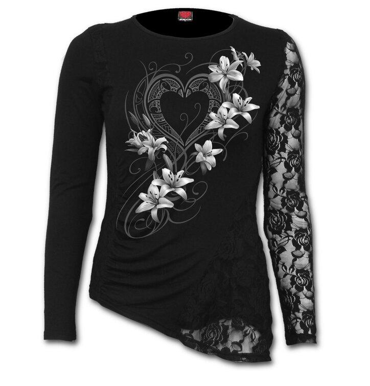 Potešte sa týmto kúskom Dedoles Dámske tričko s čipkou Biele kvety 0297f454978