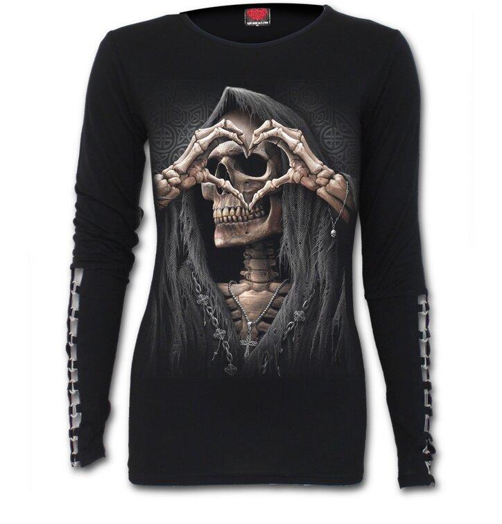 Dámské triko s dlouhým rukávem Temná láska