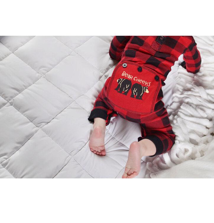 a tökéletes és egyedi ruházathoz Egyrészes Piros-Fekete Gyermek Pizsama -  Kockás - Csecsemő 6f5ccdee89